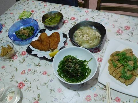8月25日の夕食