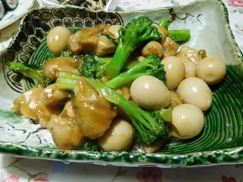 鶏肉と鶉卵の中華炒め