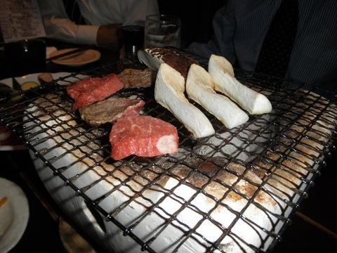 宮崎牛の炭火焼