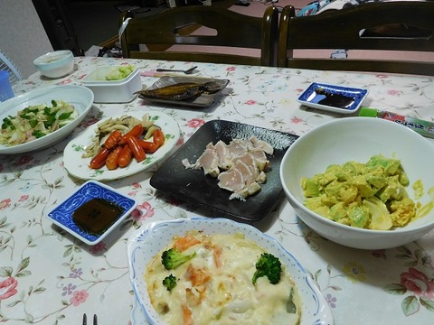 9月18日の夕食