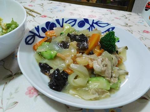 あんかけ肉野菜炒め