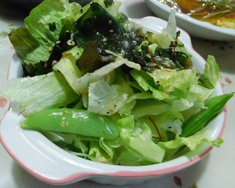 階層と野菜のサラダ