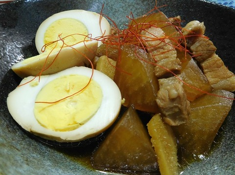 大根と豚肉の煮込み