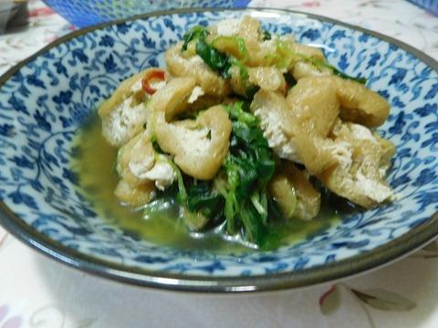 つまみ菜と揚げ煮