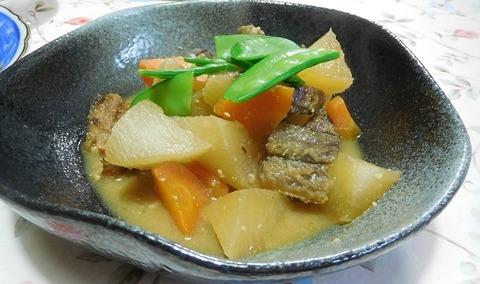 身欠きにしんと野菜の味噌煮