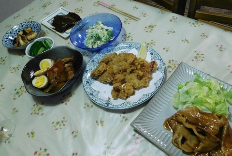 9月14日の夕食