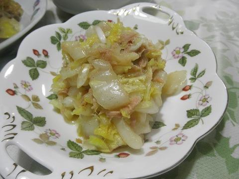 白菜のシーチキン和え