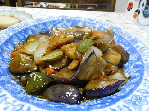野菜の甘酢あんかけ炒め