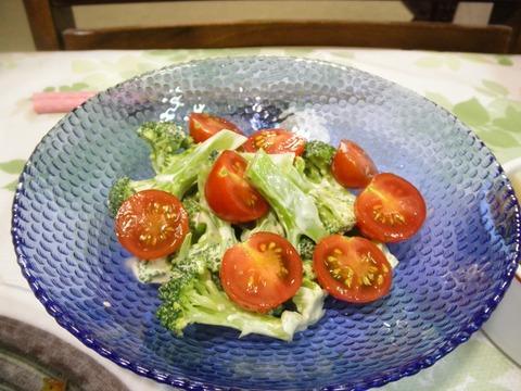 ブロッコリーとプチトマトサラダ