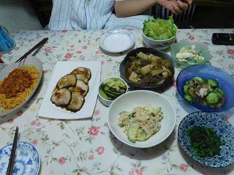 7月24日の夕食