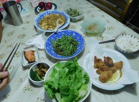 8月10日の夕食