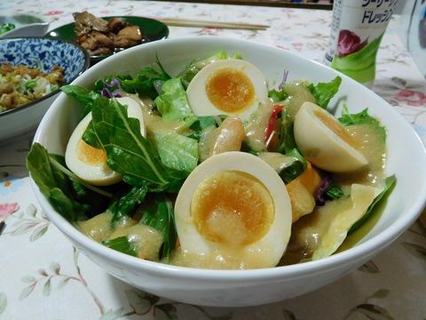 煮卵サラダ