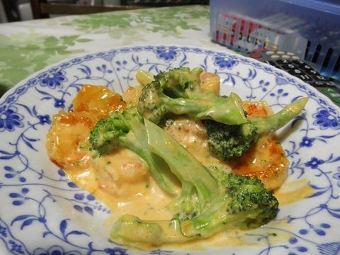 海老とブロッコリーのマユネーズ炒め