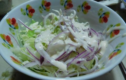 キャベツと玉ねぎのサラダ