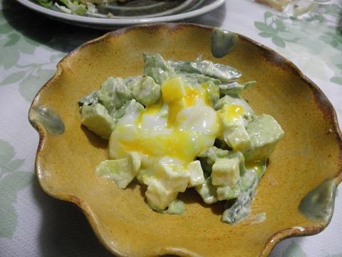 アボガドとアスパラのチーズサラダ