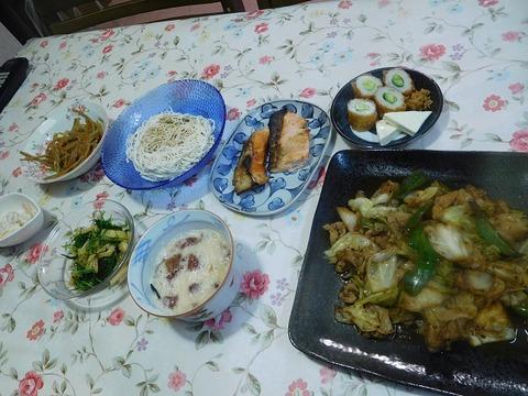 8月11日の夕食