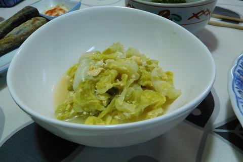 キャベツと卵の梅酢煮