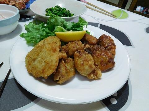 鶏から揚げ&海老寄せフライ