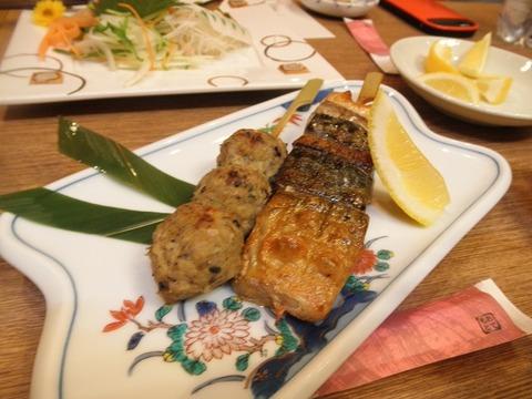 鯖の串焼き&つくね