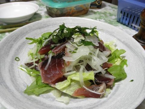 鰹タタキサラダ