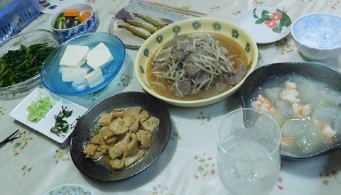 8月12日の夕食