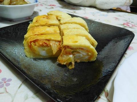 キムチ入り卵焼き