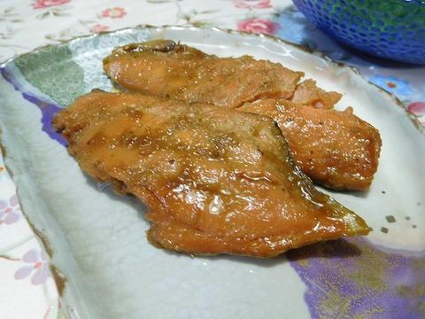 生鮭の醤油漬け焼き