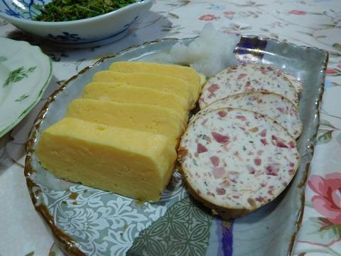 だしまき卵とチーズサラミ