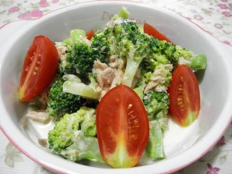 ツナとブロッコリーのサラダ
