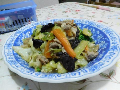 豚肉入り野菜炒め