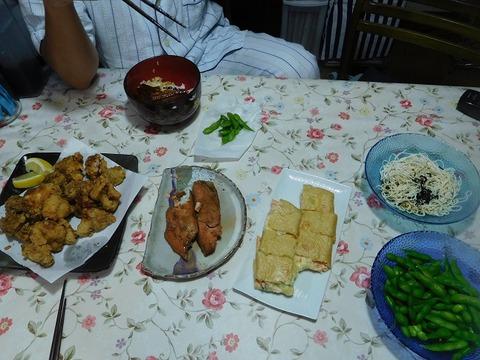 7月25日の夕食
