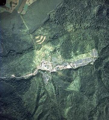 下川鉱山航空写真