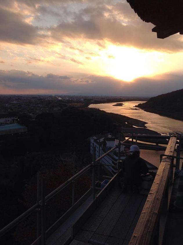 犬山城か見える木曽川