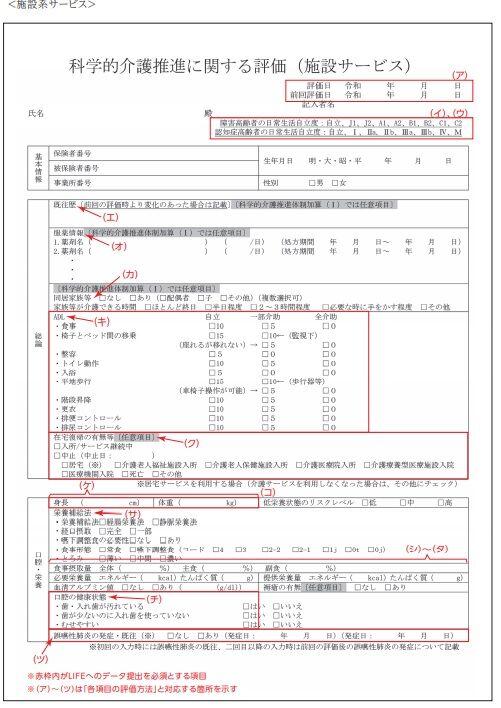 科学的介護推進に関する評価(施設サービス)