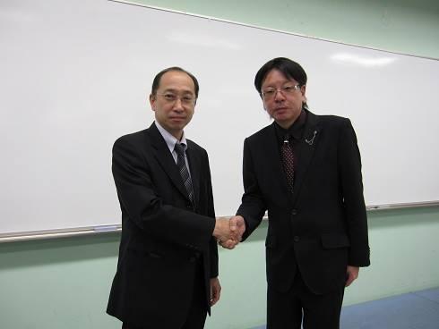篠木弁護士との握手