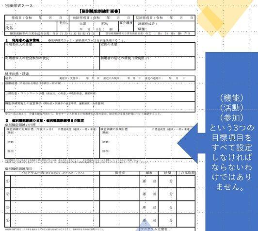 別紙様式3-3個別機能訓練計画書