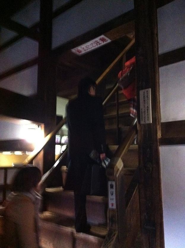 犬山城の階段