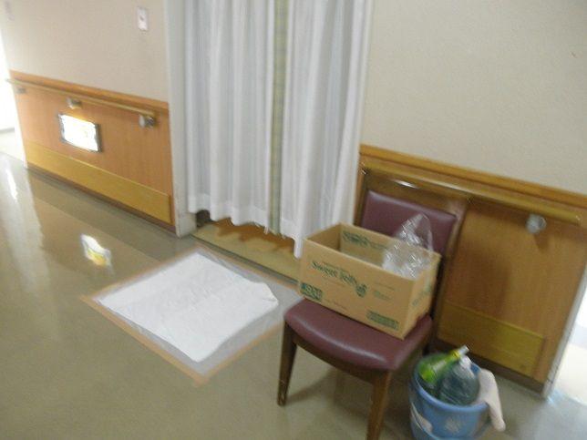 個室入口の感染予防策