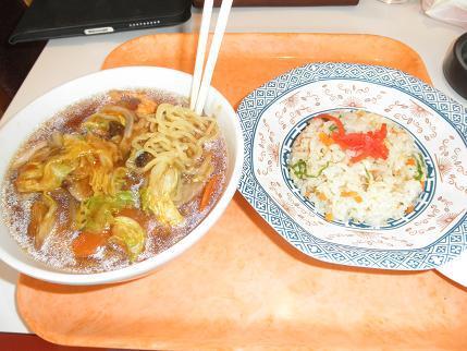 一龍・広東麺とチャーハンセット