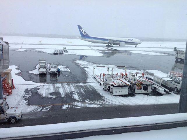 12月22日の新千歳空港