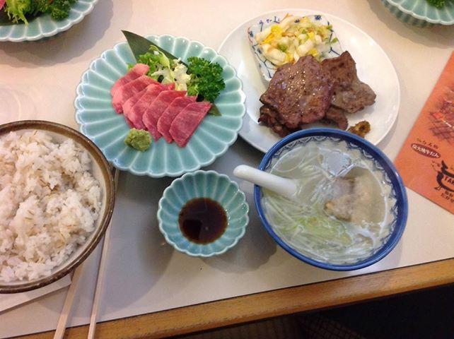 牛タン定食&牛タン刺身