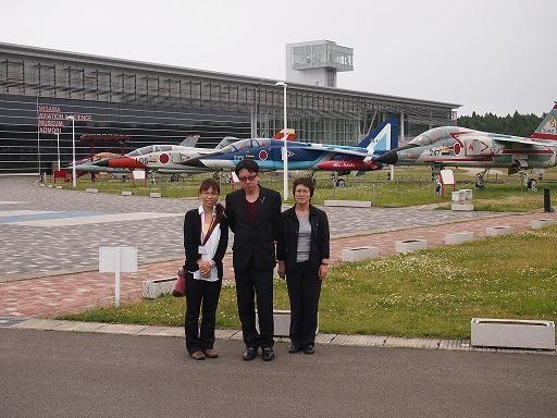 三沢空港での記念写真