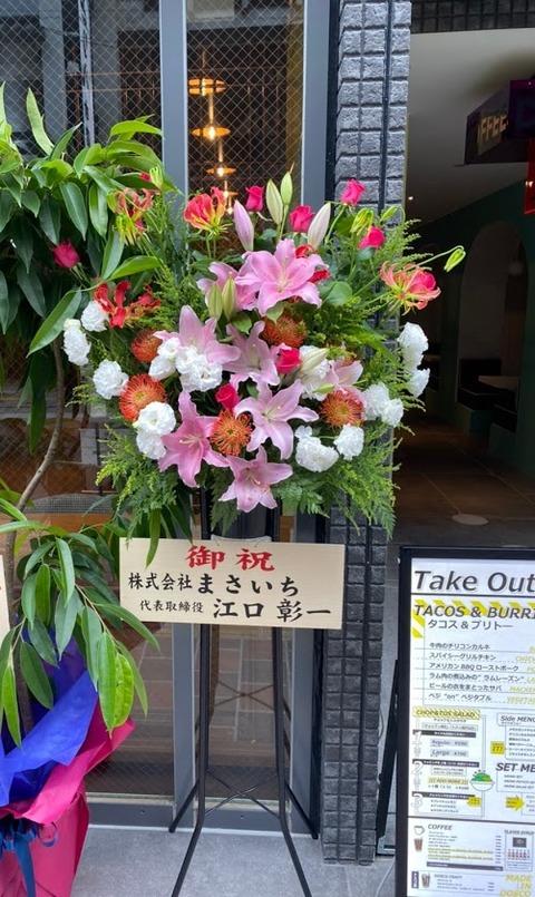 ドスコ祝い花