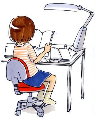 本を読む子ども/イラスト