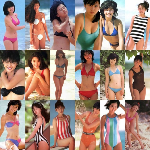 Collection of 80s idol swimsuit & sexy images
