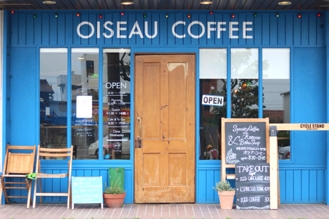 新舞子「OISEAU COFFEE」ブルーが素敵なコーヒーショップ