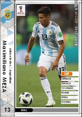 17-18 RE マクシミリアーノ・メサ (アルゼンチン代表) : WCCFオリカ ...