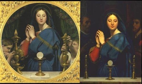 アングル、聖餅の聖母(オルセー、プーシキン)