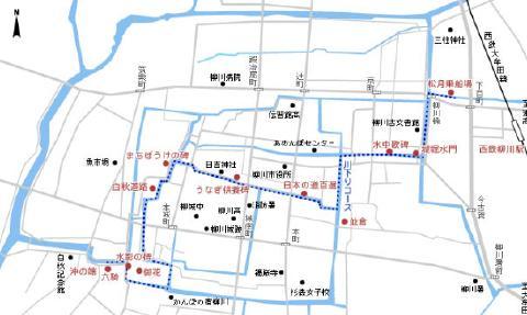 pict-柳川川下り地図