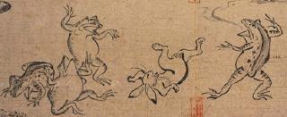 pict-鳥獣人物戯画(甲)部分-2